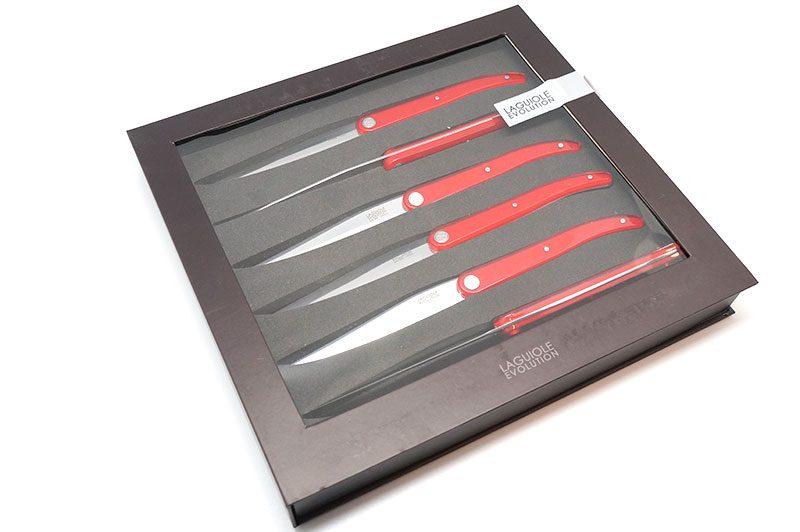 Фотография #1 Tarrerias-Bonjean Laguiole Sens Ножи для стейка, 6 шт., красные (449183)
