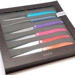 Photo #1 Tarrerias-Bonjean Set of 6 Steak knives Laguiole Sens Assorted colours (449180)