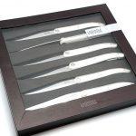 Photo #1 Tarrerias-Bonjean Set of 6 Steak knives Laguiole Evolution White (449182)