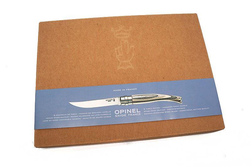 Photo #1 Opinel Steak Knives Laminated Birchwood handle (set of 6) (001462)