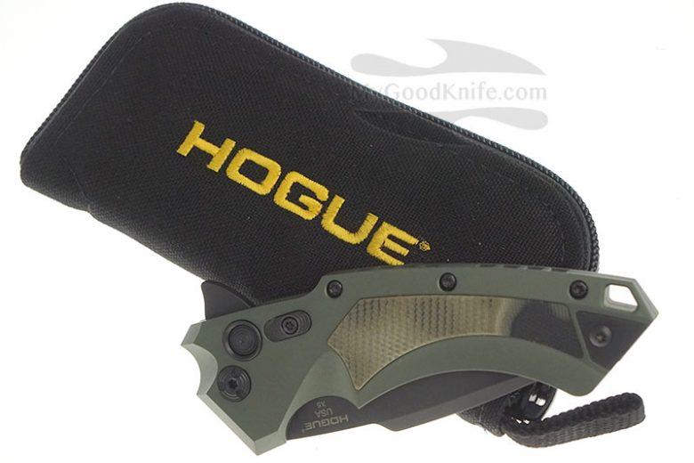 Фотография #4 Складной нож Hogue X5 Button Lock Spear Green 34558