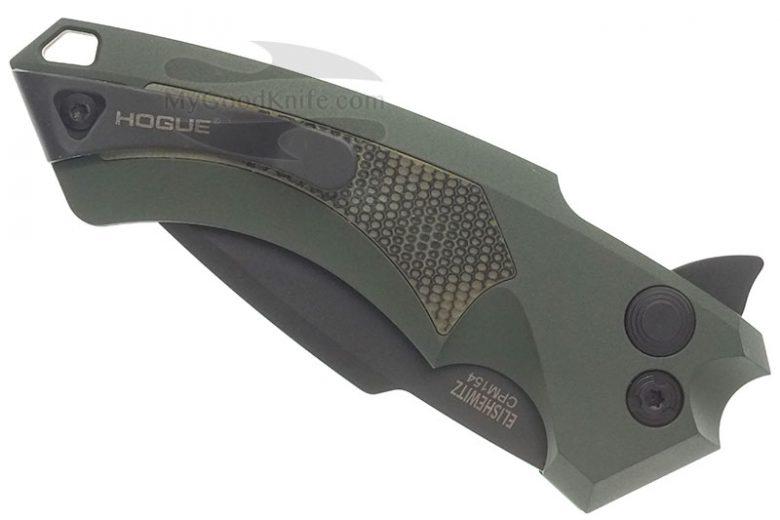 Фотография #3 Складной нож Hogue X5 Button Lock Spear Green 34558