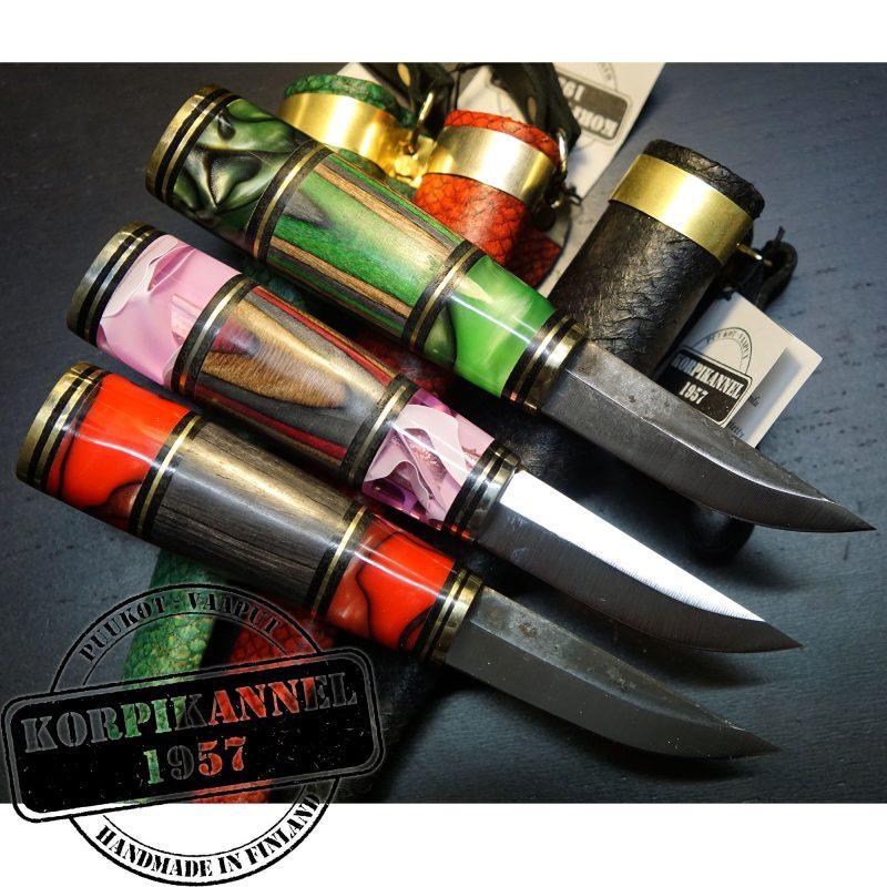 Photo #4 Finnish knife Korpikannel Puukko acrylic Green korpag 8cm