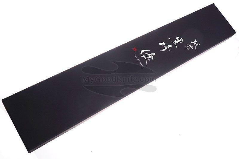Photo #7 Sujihiki Japanese kitchen knife Yu Kurosaki Fujin VG-10 Damascus Series ZVD-270SL 27cm