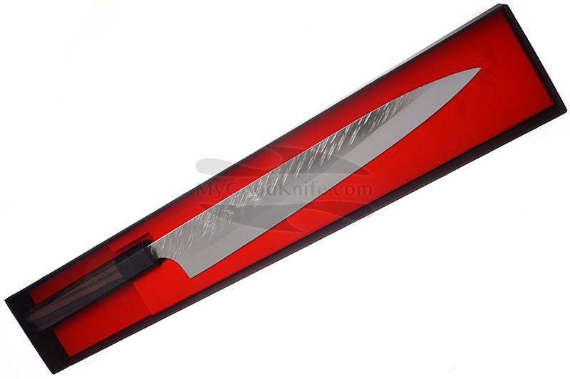 Photo #3 Sujihiki Japanese kitchen knife Yu Kurosaki Fujin VG-10 Damascus Series ZVD-270SL 27cm