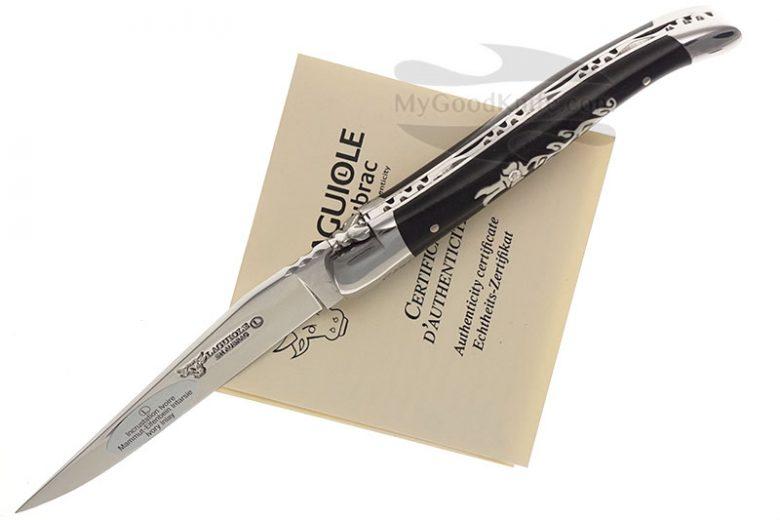 Фотография #3 Нож Лагиоль Laguiole en Aubrac 10 cm Ivory Diamond Flower L0210FDIFSI1