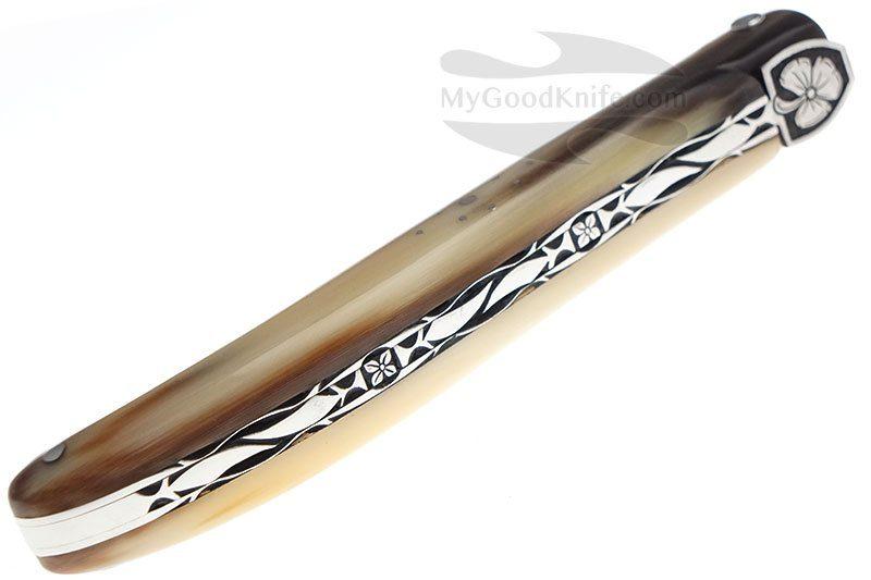 Photo #2 Laguiole En Aubrac 12cm Clover Solid Horn, exclusive plates L0512TPHFSI1
