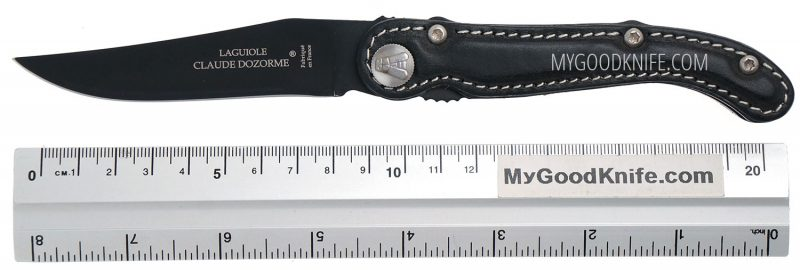 Photo #5 Laguiole Scrapper pocket knife  Claude Dozorme (black leather)