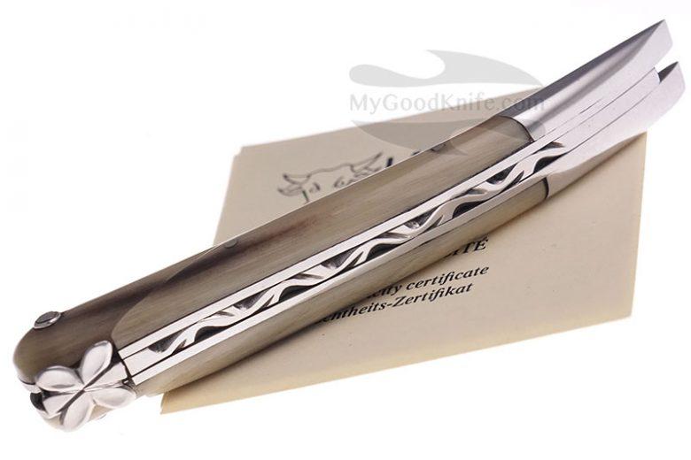 Фотография #4 Нож Лагиоль Laguiole en Aubrac 12 cm Aubracien Solid Horn L0112AHISSI1