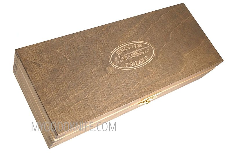 Photo #2 Lynx Damascus in a wooden gift box Marttiini (132015W)