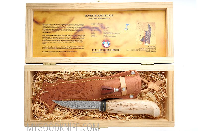 Photo #3 Lynx Damascus in a wooden gift box Marttiini (132015W)