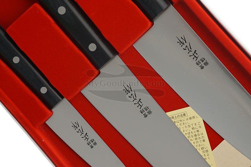 Фотография #2 Набор кухонных ножей Masahiro 3 шт серии LLS  11531