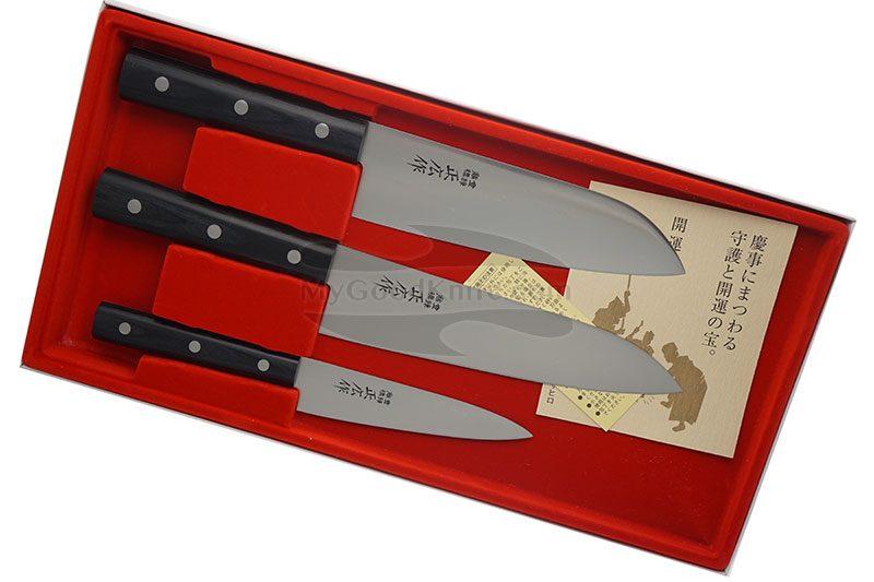 Фотография #1 Набор кухонных ножей Masahiro 3 шт серии LLS  11531