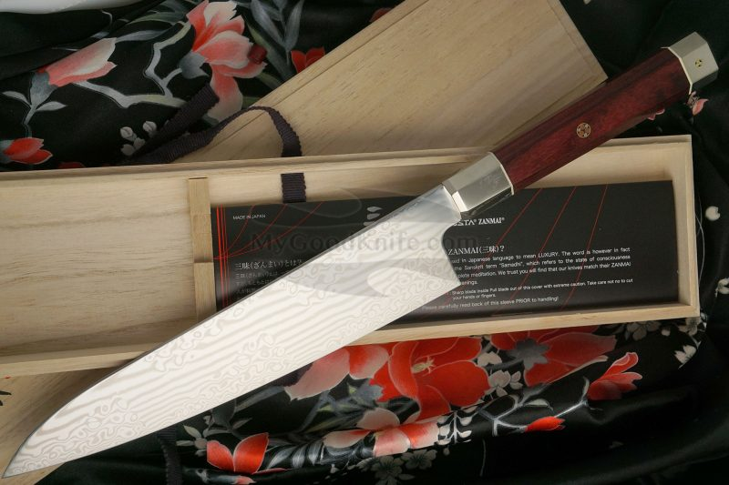Фотография #3 Японский кухонный нож Гьюто Mcusta Coreless Aranami ZUA-1005C 21см