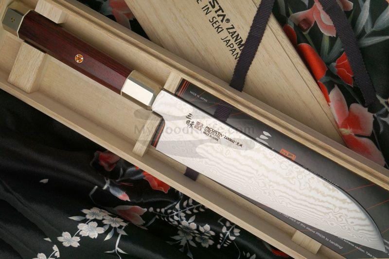 Photo #1 Santoku Japanese kitchen knife Mcusta Coreless Aranami ZUA-1003C 18cm