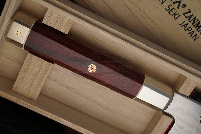 Photo #3 Nakiri Japanese kitchen knife Mcusta Coreless Aranami ZUA-1008C 16.5cm