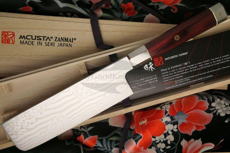 Photo #2 Nakiri Japanese kitchen knife Mcusta Coreless Aranami ZUA-1008C 16.5cm