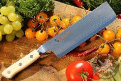 Japanese kitchen knife nikiri Mcusta Zanmai Classic Damascus Nakiri HKC-3008D