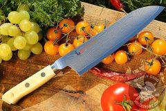 Japanese kitchen knife santoku Mcusta Zanmai Classic Damascus Santoku HKC-3003D