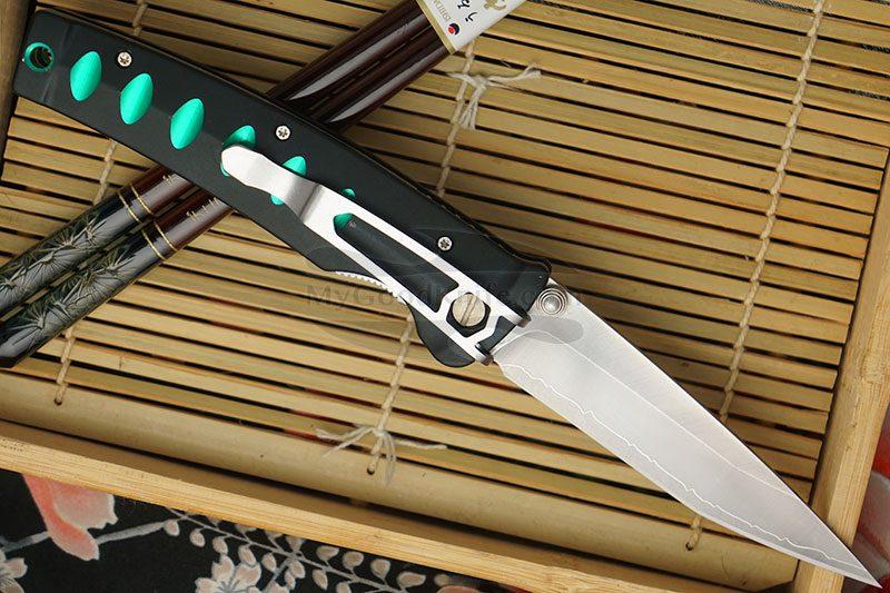 Фотография #2 Складной нож Mcusta Katana Green MC-0044C 8.5см