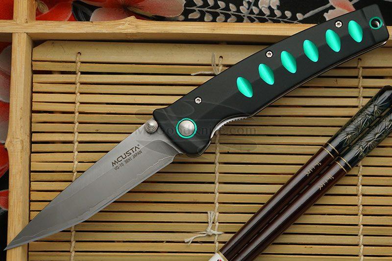 Фотография #1 Складной нож Mcusta Katana Green MC-0044C 8.5см