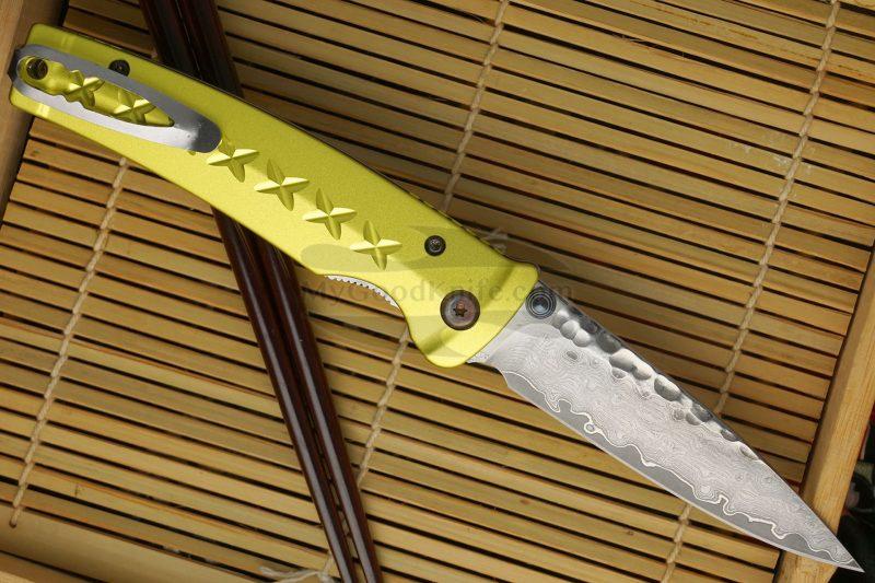 Photo #2 Folding knife Mcusta Tsuchi Bushi Golden Yellow MC-0164D 8.5cm