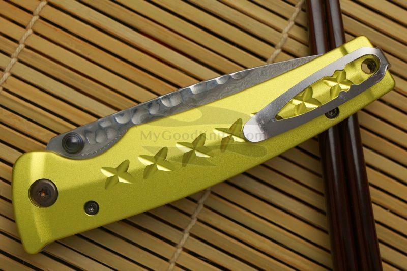 Photo #3 Folding knife Mcusta Tsuchi Bushi Golden Yellow MC-0164D 8.5cm