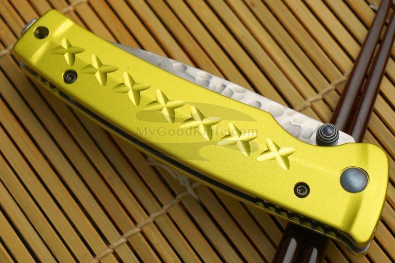 Photo #4 Folding knife Mcusta Tsuchi Bushi Golden Yellow MC-0164D 8.5cm
