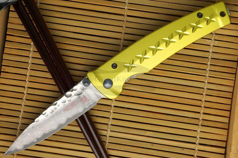 Photo #1 Folding knife Mcusta Tsuchi Bushi Golden Yellow MC-0164D 8.5cm