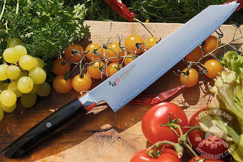 Фотография #1 Японский кухонный нож Киритсуке Mcusta Revolution SPG4 ZRB-1206G 23см