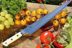 Japanese kitchen knife sujihiki Mcusta Zanmai Classic Damascus Sujihiki HKC-3010D