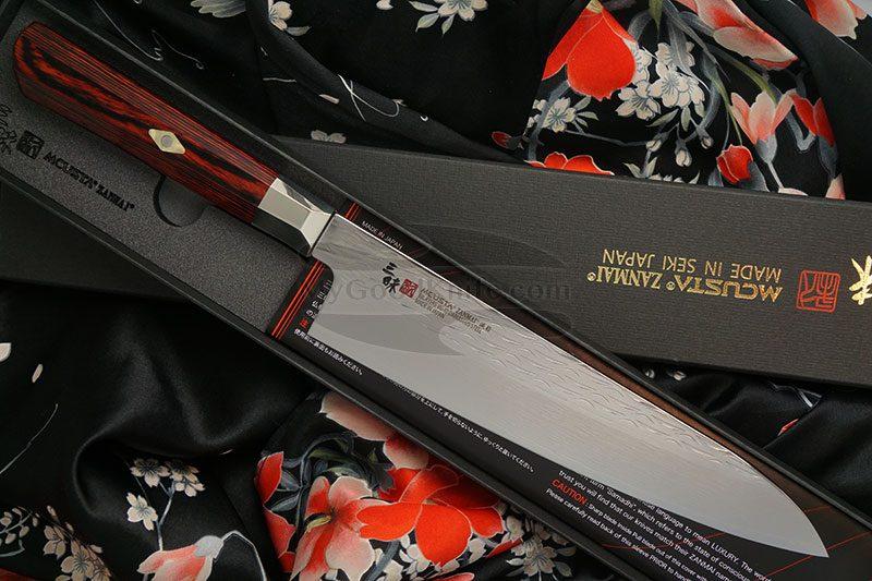 Valokuva #1 Japanilainen kokkiveitsi Gyuto Mcusta Supreme Ripple Damascus TZ2-4003DR 21cm