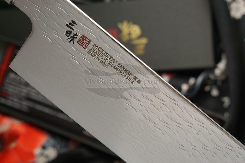 Valokuva #2 Japanilainen vihannesveitsi Nakiri Mcusta Supreme Ripple Damascus TZ2-4008DR 16.5cm