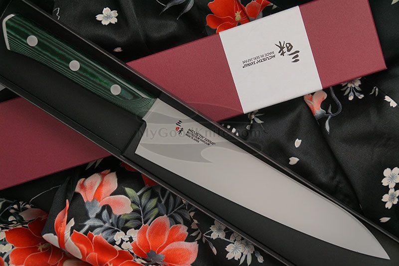 Фотография #1 Японский кухонный нож Гьюто Mcusta Forest HBG-6005M 21см