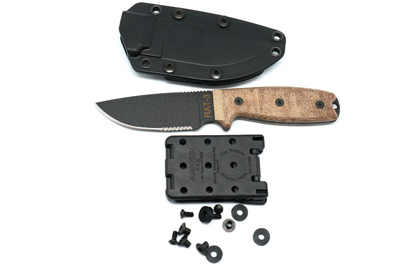 Photo #2 Ontario RAT-3 Serrated with black sheath (8631)