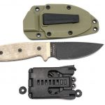 Valokuva #2 Ontario RAT-3 Serrated with Green Sheath (8633)