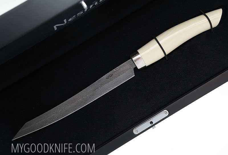 Photo #5 Nesmuk EXKLUSIV Full Damascus Slicer, Juma ivory (EVDJI1602012)