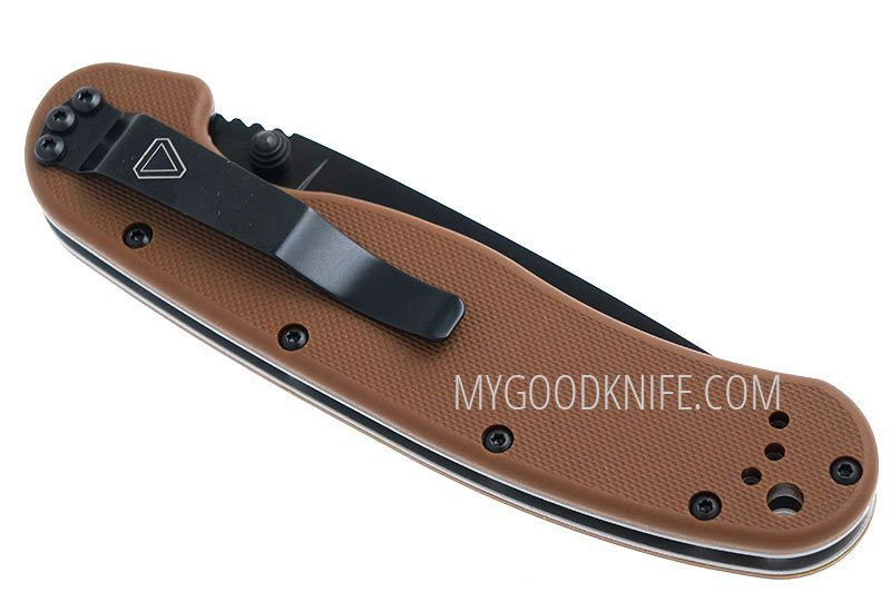 Photo #5 Ontario RAT-1 Black Combo Blade, Coyote Brown Nylon Handle (8847CB)