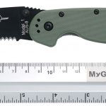 Valokuva #3 Ontario RAT-1 Black Combo Blade, Green Nylon Handle (8847OD)