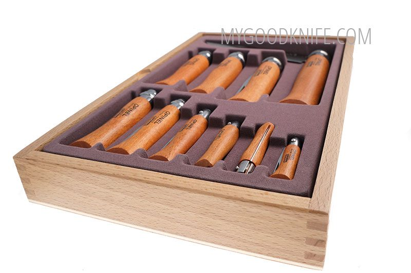 Photo #2 Opinel Carbon Blade Gift set – Glass Top (183104)