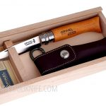 Valokuva #3 Wooden slide top box Opinel Carbon No 8 with sheath (000815)