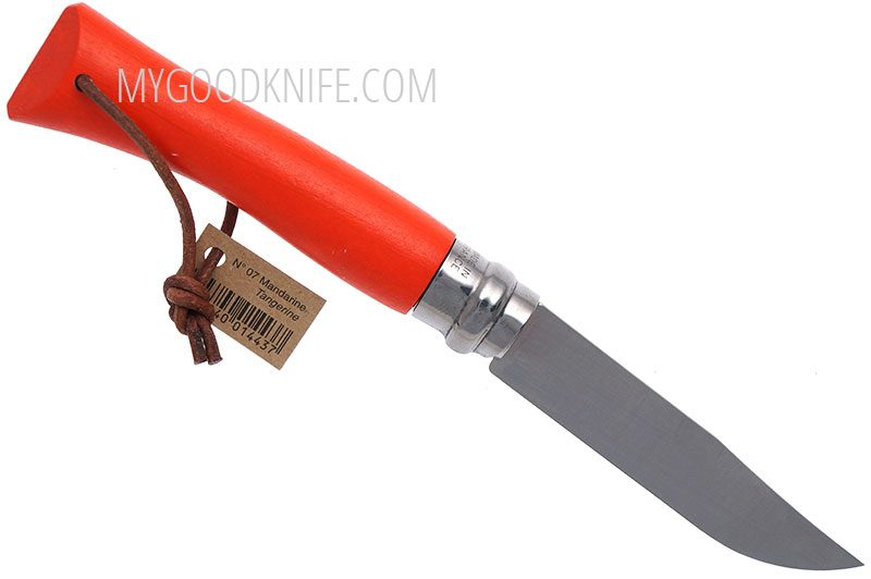 Photo #1 Opinel No7 Orange with Leather Lace (001443)