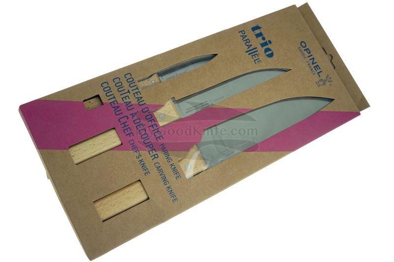 Photo #2 Kitchen knife set Opinel Trio Box 3 Parallèle 001838