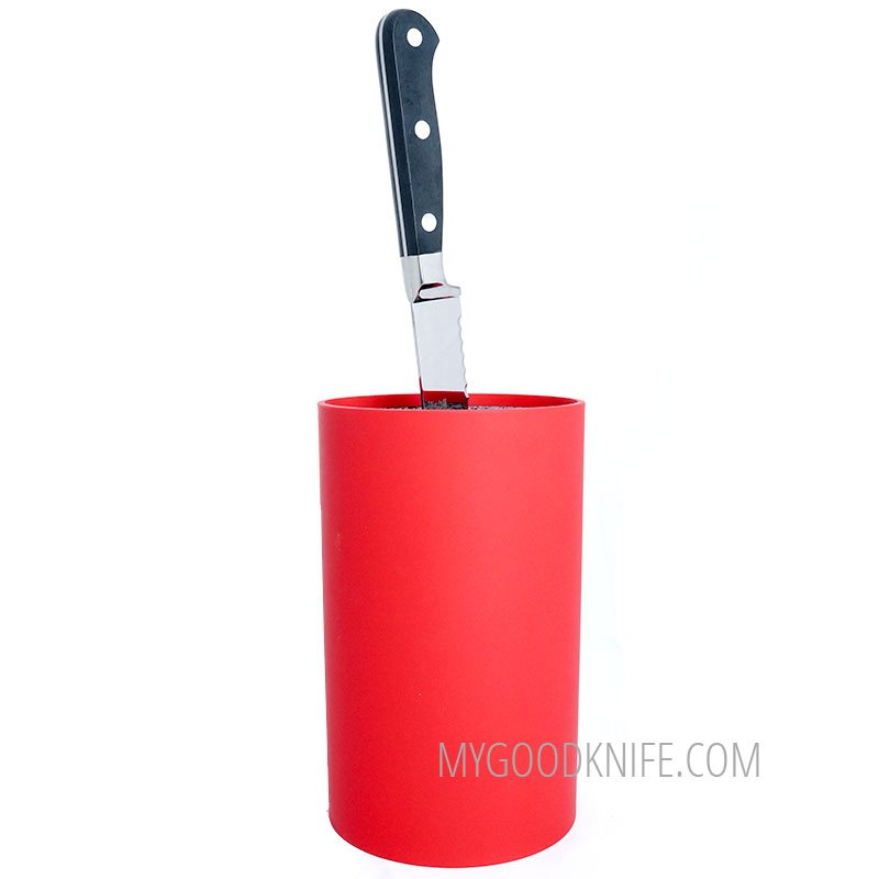 Photo #3 Zeller Round Knife Block, red (without knives)