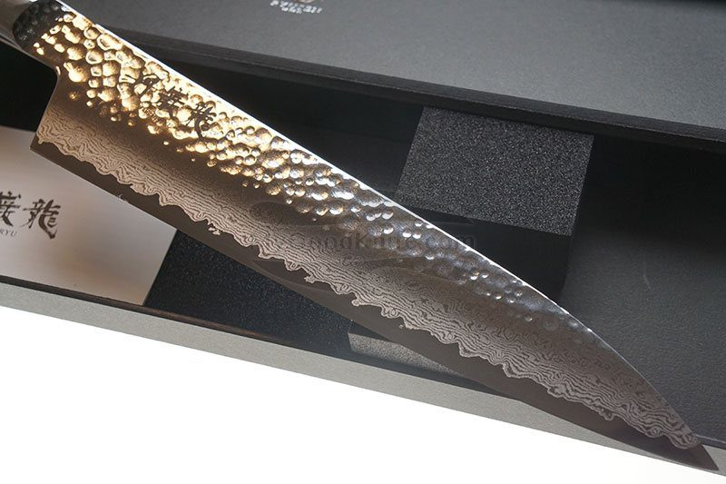 Photo #1 Gyuto Japanese kitchen knife Ryusen Hamono Tanganryu TG502 21cm