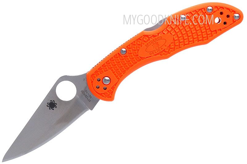 Фотография #4 Spyderco Delica Flat Ground, Orange 11FPOR
