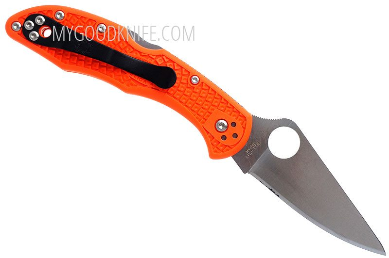 Фотография #2 Spyderco Delica Flat Ground, Orange 11FPOR