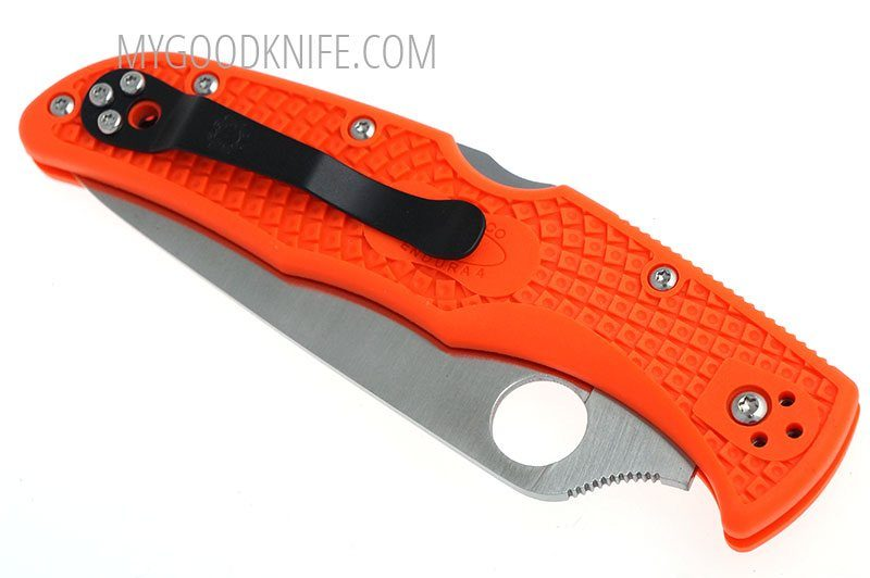 Valokuva #5 Spyderco Endura 4 Flat Ground FRN, orange (10FPOR)
