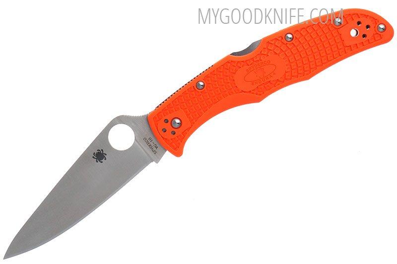 Spyderco Endura 4 Flat Ground Frn Orange 10fpor For