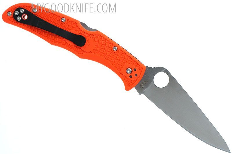Valokuva #4 Spyderco Endura 4 Flat Ground FRN, orange (10FPOR)